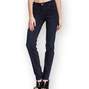 KFTK • Dark Wash 'Sienna' Low Rise Skinny Jeans